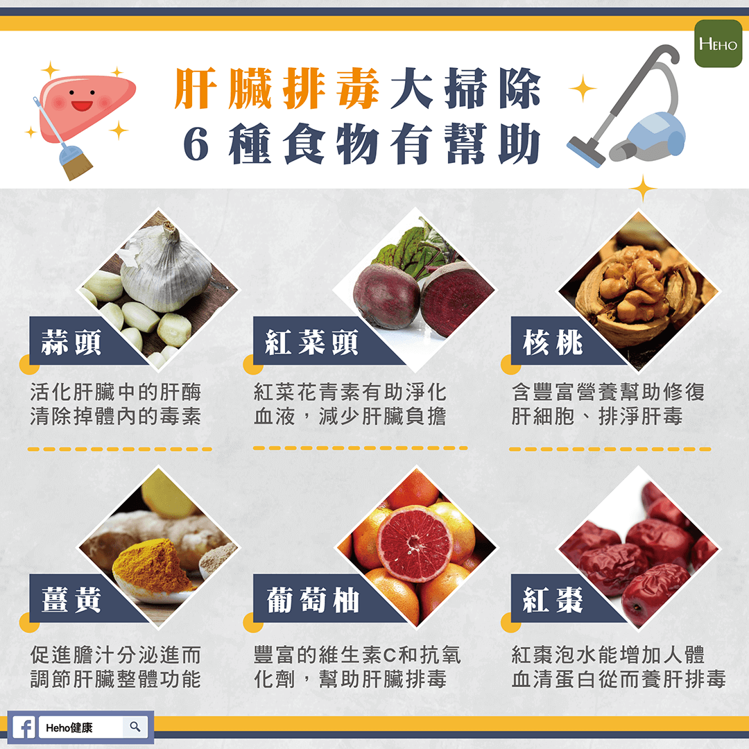 肝臟也要排毒大掃除!多吃 6 種食物對身體超有幫助