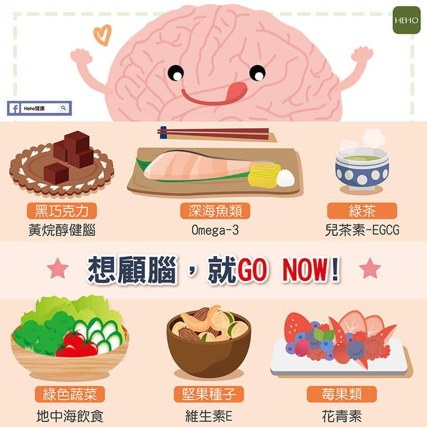 保養腦力要從現在開始!6 食材讓大腦不退化、更凍齡!