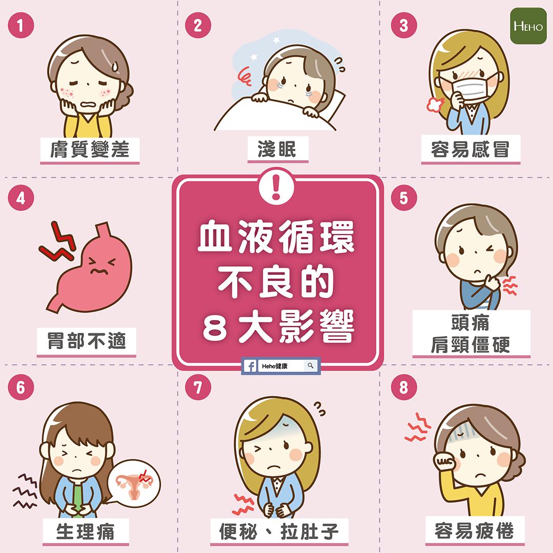 淺眠、易感冒?血液循環不良的8大影響