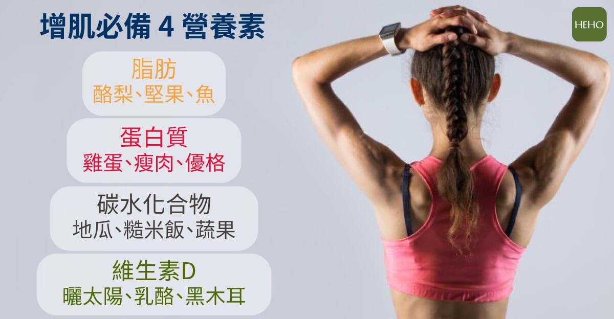 長肌肉只吃蛋白質夠嗎? 4 種增肌必備營養素不能少!
