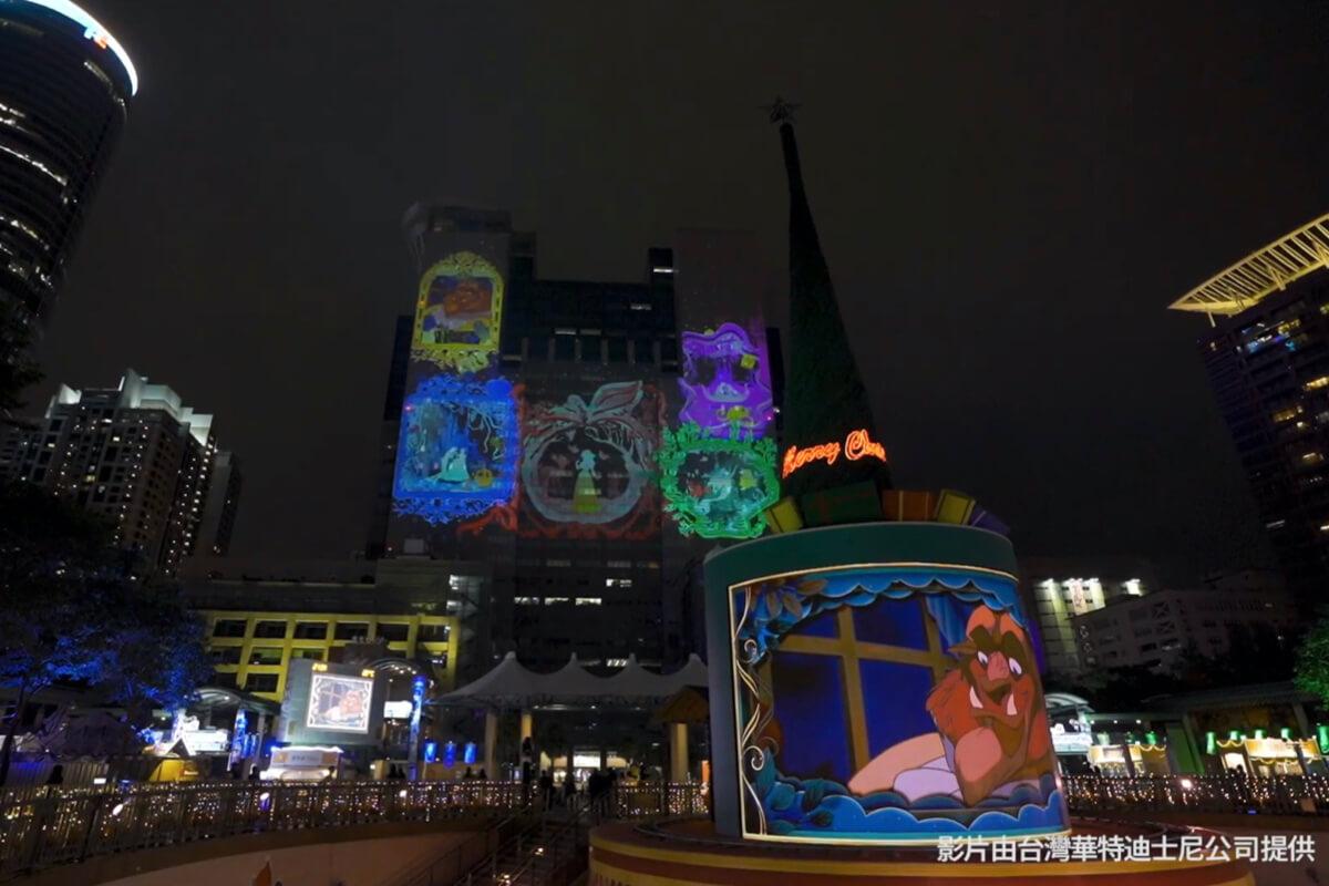 不用出國在台灣就看得到!2020新北耶誕城用光雕秀重現經典迪士尼