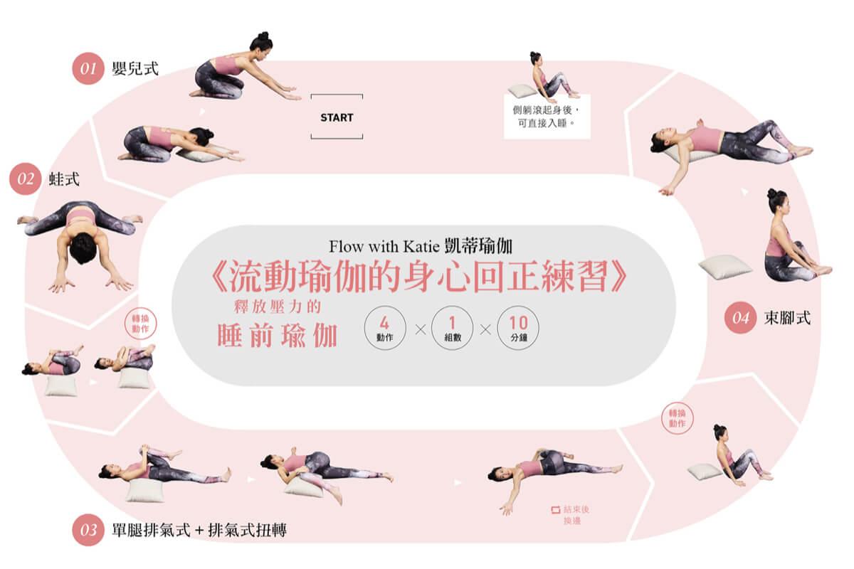 居家運動 / 釋放壓力睡前瑜伽!溫柔伸展解除身體一天的辛苦